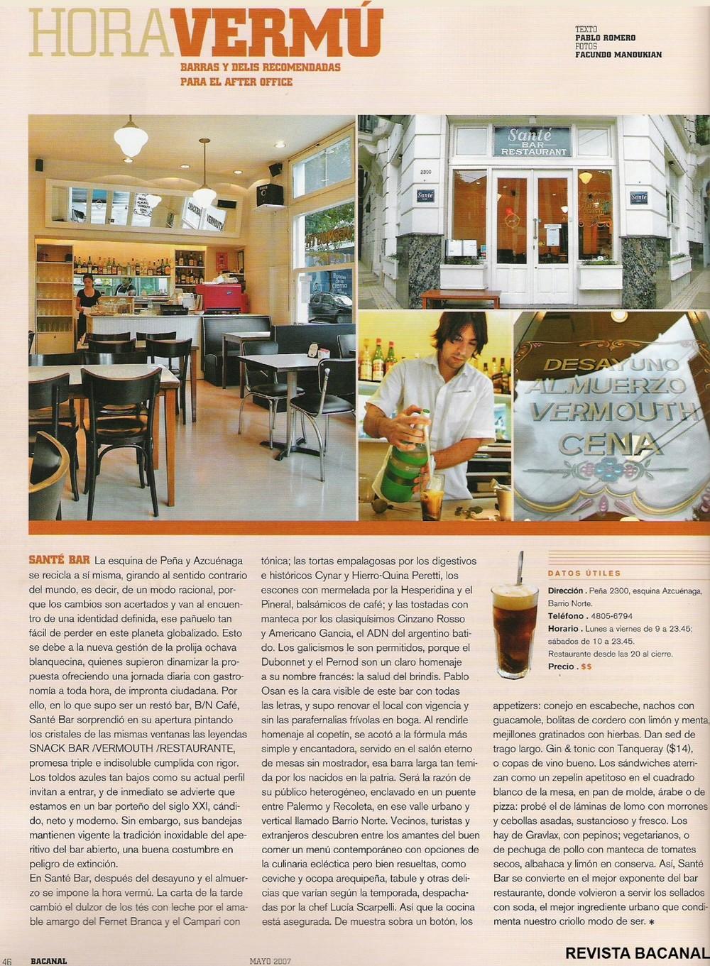 Revista Bacanal - MAY/2007