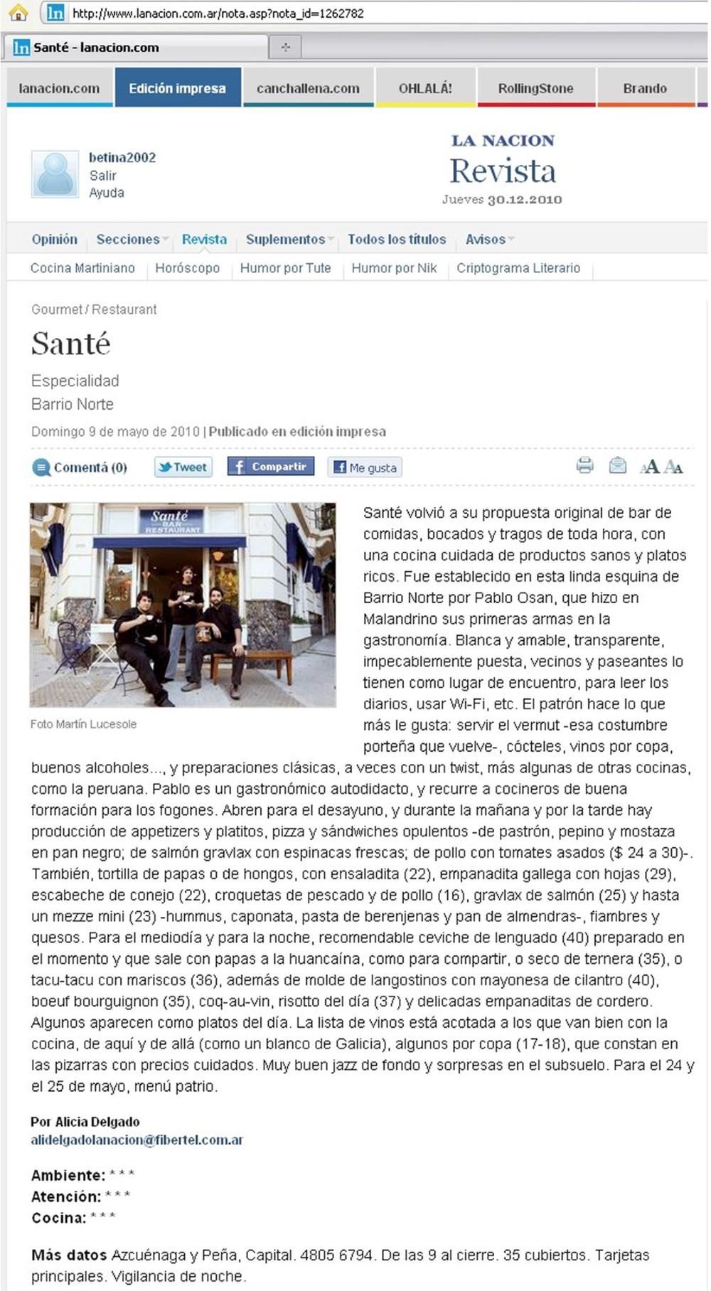 Revista La Nación - DIC/2010