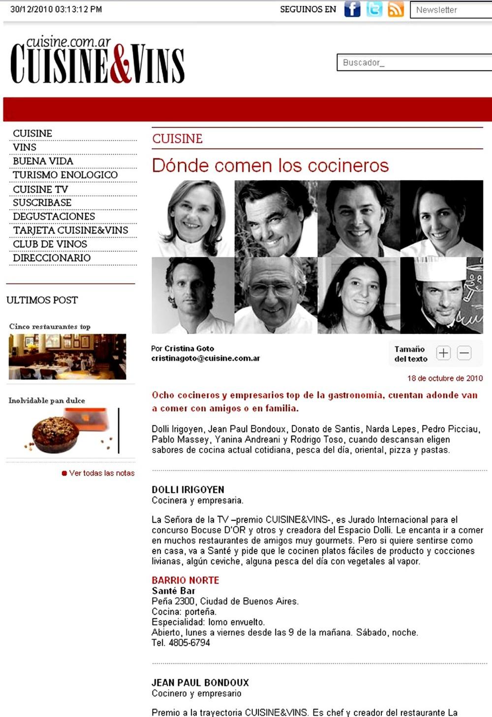 Cuisine & Vins - DIC/2010