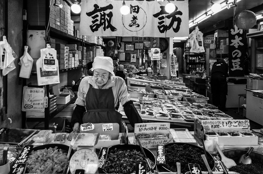 Fishmongers at Tsukiji's outer market represent the true essence of this iconic place.