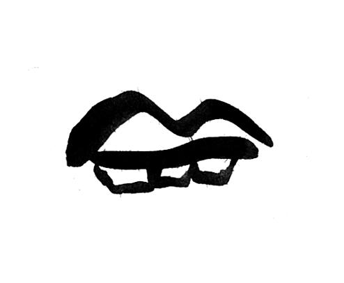 Image 7 - V (typeface 3), ink drawing