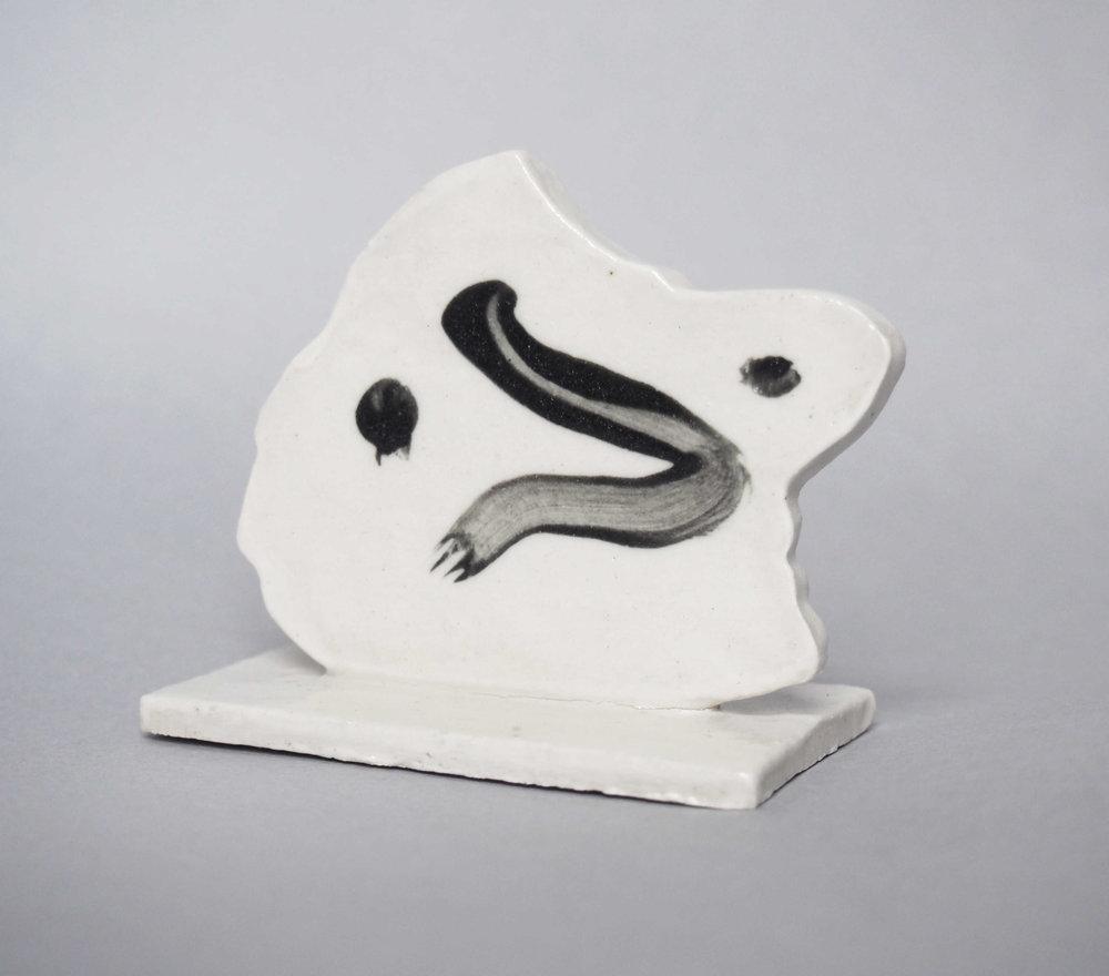 Head , 7 x 3 x 8cm, stoneware, glazed ceramic