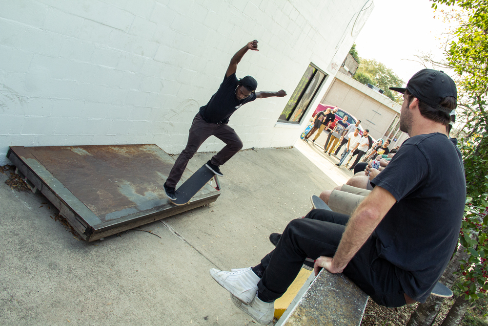 Contest Winner Marcus Lizzmore Pole Jam to Nose Grind