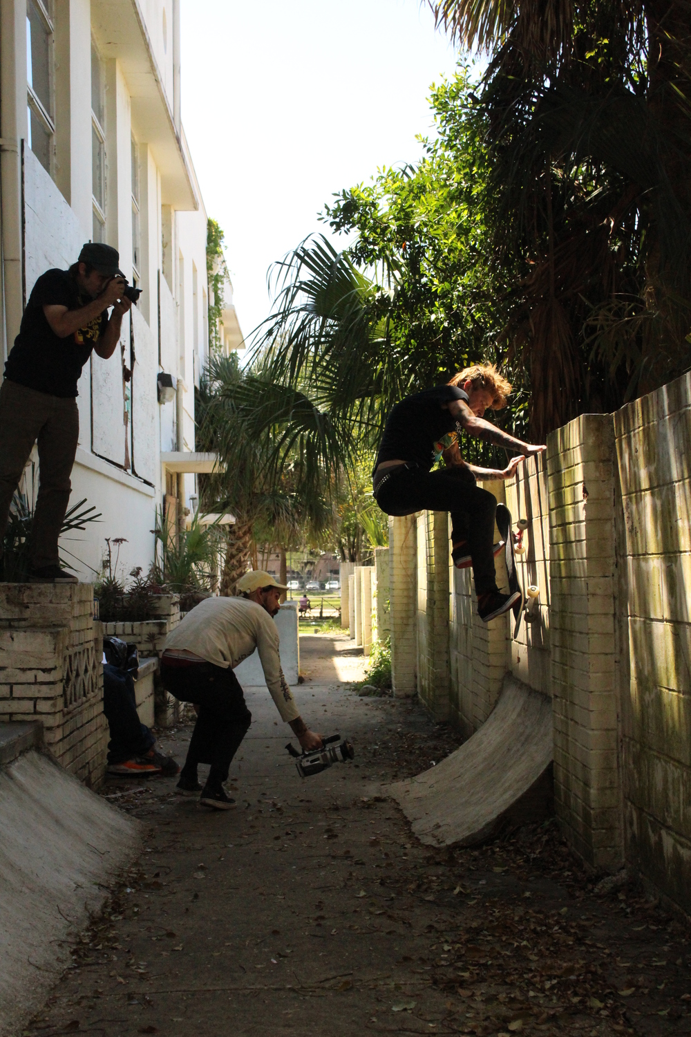 """alley"" oop wall ride documented by Quinn and Cameron. Skating by Greg.  Miss ya already bud."