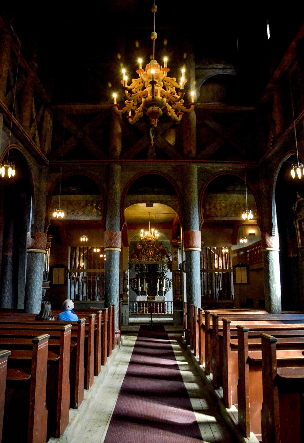 Interiors Ringebu stave church, July 2015