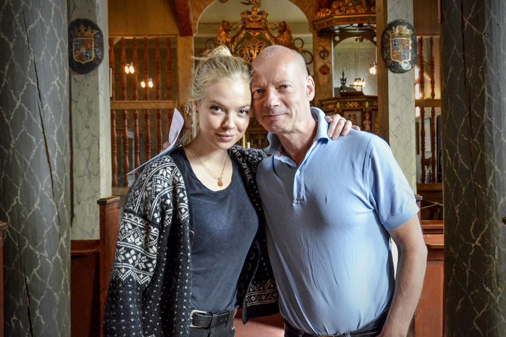 My dad and me. Ringebu stave church, July 2015. Photo by my sister