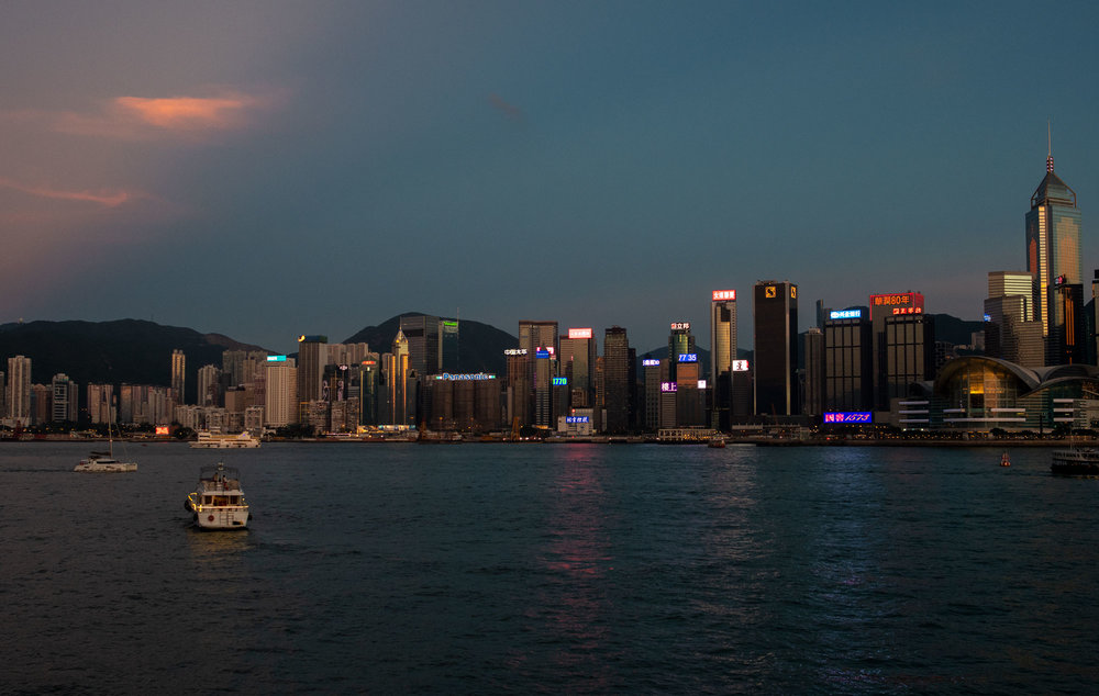 Skyline seen from Tsim Sha Tsui