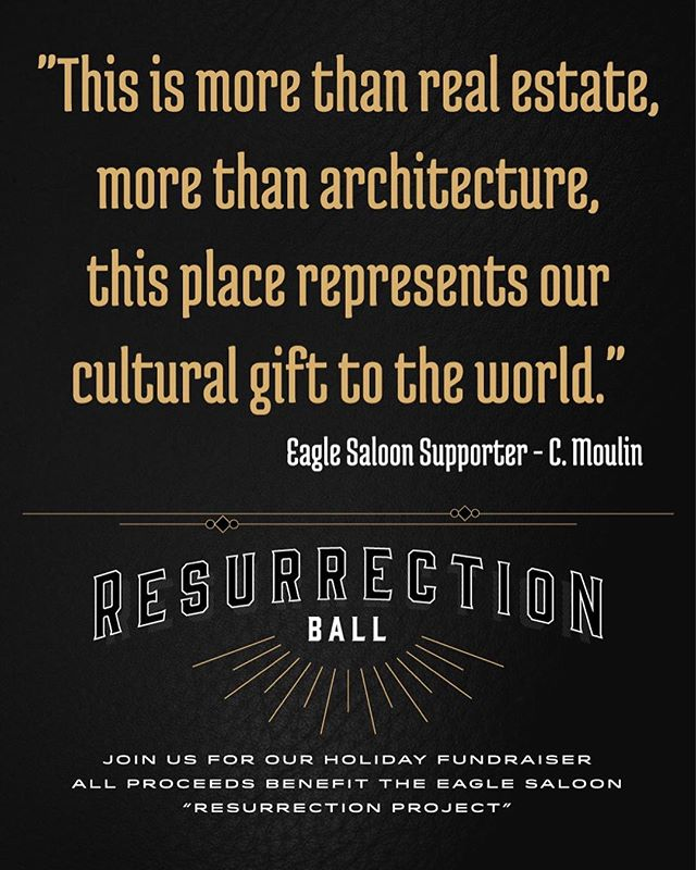 We agree! Show your support for the @eaglesaloon by joining us for the Resurrection Ball, December 28th for an incredible night of live music with over 15 world class musicians! Tickets available at www.thejoytheater.com / link also in our IG bio.