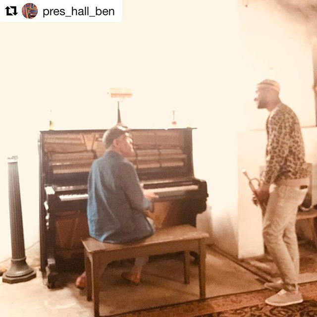 "A mindful message from @pres_hall_ben during this Holiday Season. See these two wonderful souls share their magic next Thursday night @ ""Resurrection Ball"" #blessed #Repost ・・・ Last night in the Gallery at @preservationhall I captured this beautiful exchange between Mr. Charlie Gabriel and @mrblewis ..... these precious moments when Mr. Charlie shares his experience and knowledge are why we do what we do.... Mr. Gabriel is our Holiday Gift.... today, give thanks for the teachers in your life and know that you too are a teacher.... #masterteacher #presciousmoments #teacherstudent #keepyourheadup #soitis"