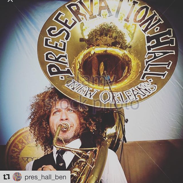 READ & REPOST! Help find our Brother Ben's STOLEN Sousaphone! '#Repost @pres_hall_ben with @get_repost ・・・ Sadly and unfortunately the signature Preservation Hall sousaphone Tuba went missing following our performance Saturday night at @neworleans.airlift  I purchased this instrument shortly after Hurricane Katrina tonreplace the instrument I lost in the storm... We are offering a reward for its return... please call tel:504-418-0367 with any information regarding its whereabouts.... #keepyourheadup #soitis
