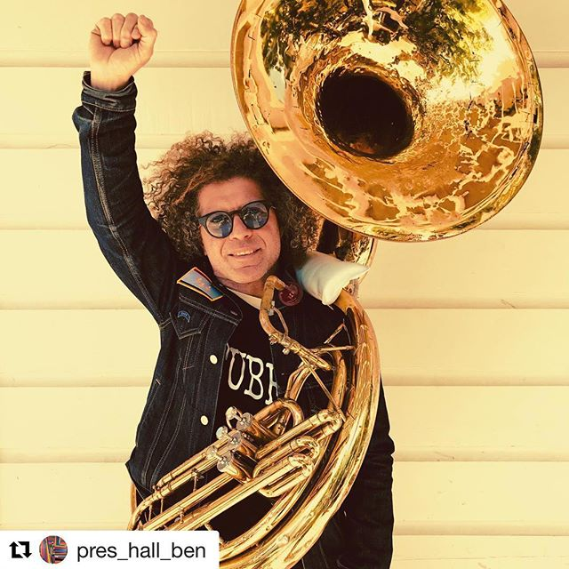 "Home is where the Horn is! It's back! Long live ""faith in humanity""⚡️#Repost @pres_hall_ben with @get_repost ・・・ I am delighted and relieved to announce that our Preservation Hall Tuba has found its way home!  We were able to retrieve the tuba through an anonymous tip.  I want to thank everyone near and far for the overwhelming show of support!  As you can imagine, the horn's signature lettering had been removed and it suffered a little damage, but nothing a bit of ""Tender Loving Repair"" can't remedy!  It was through the outpouring of concern that the message spread and led to the tuba's successful return.  Words cannot express our appreciation for all the support and effort that went into getting the word out.  This tuba has allowed us to bring a lot of joy to the community and it was our community that helped ensure its return.  Much Love and Many Thanks, Ben #gotmytubaback #givememytubaback #keepyourheadup #soitis"