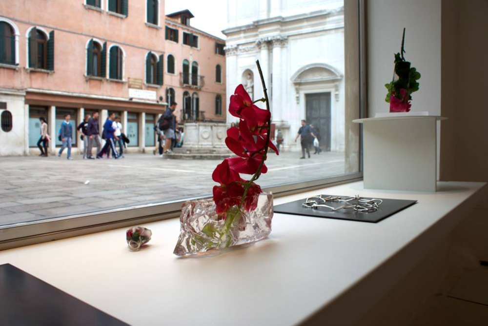 exhibition view, Per domani, Catalina Brenes, 2014, OHMYBLUE, Venice, Italy, photo: OHMYBLUE