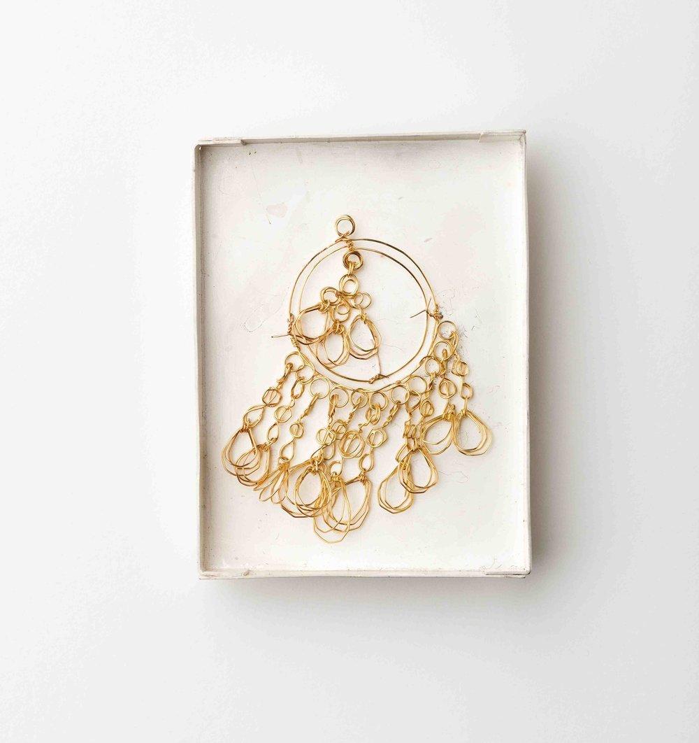Galatée Pestre, Lost Jewelry, brooch, gold, silver