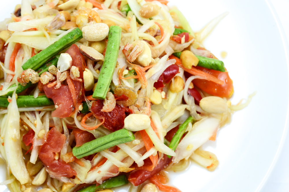 Green Papaya Salad with Ginger Dressing
