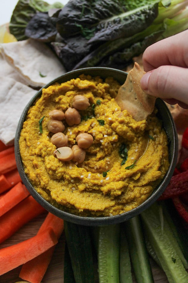 Source: https://www.asaucykitchen.com/ginger-and-turmeric-hummus/