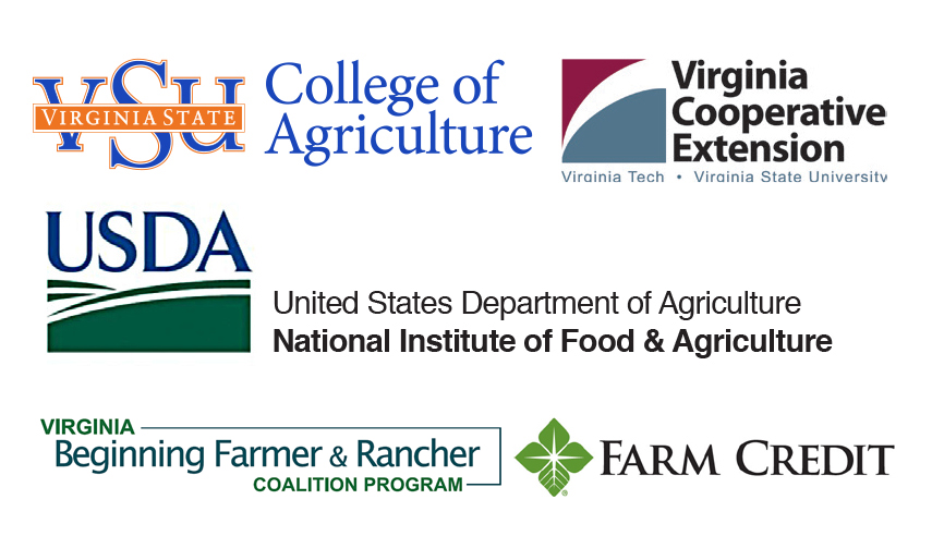 "Workshops support the USDA NIFA grant designed for ""Outreach, Training, and Technical Assistance Project for Socially Disadvantaged and Veteran Beginning Farmers and Rancher in Virginia"" Award Number 2017-70011-26861"