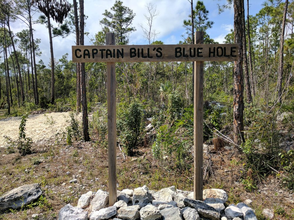 Entrance to Captain Bill's Blue Hole