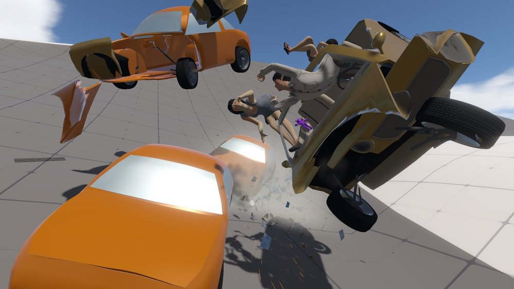 Prototype AI cars in the Yang Family Demo