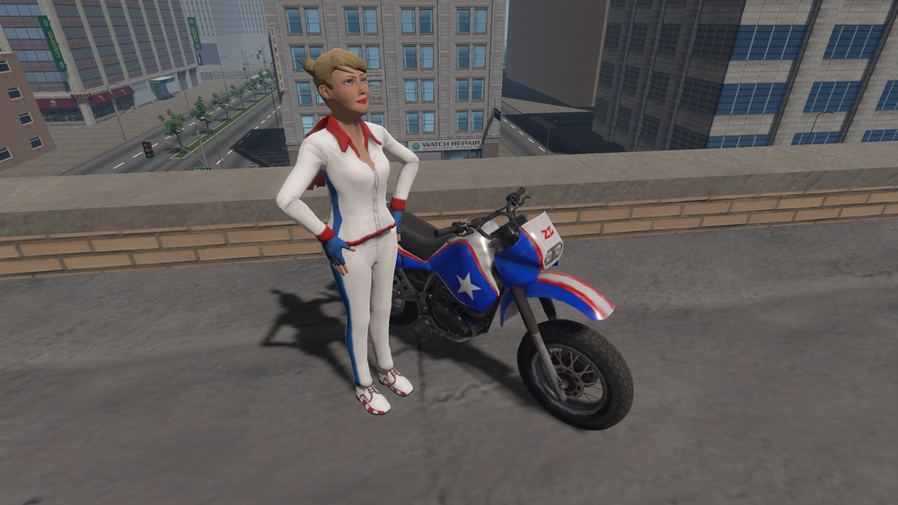 Zoe Zoom, stunt woman extraordinaire