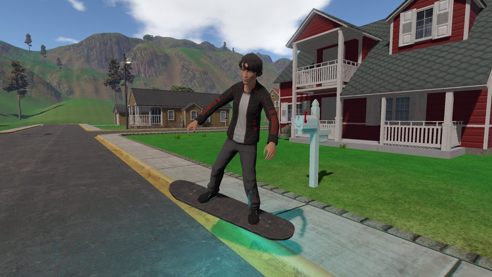"Community created character ""Junior"" and his HoverBoard"