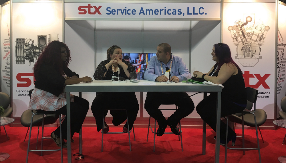 STX Booth Staff from L-R: Audrey White, Mary Viers, Adam Kershaw, Debbie Williams