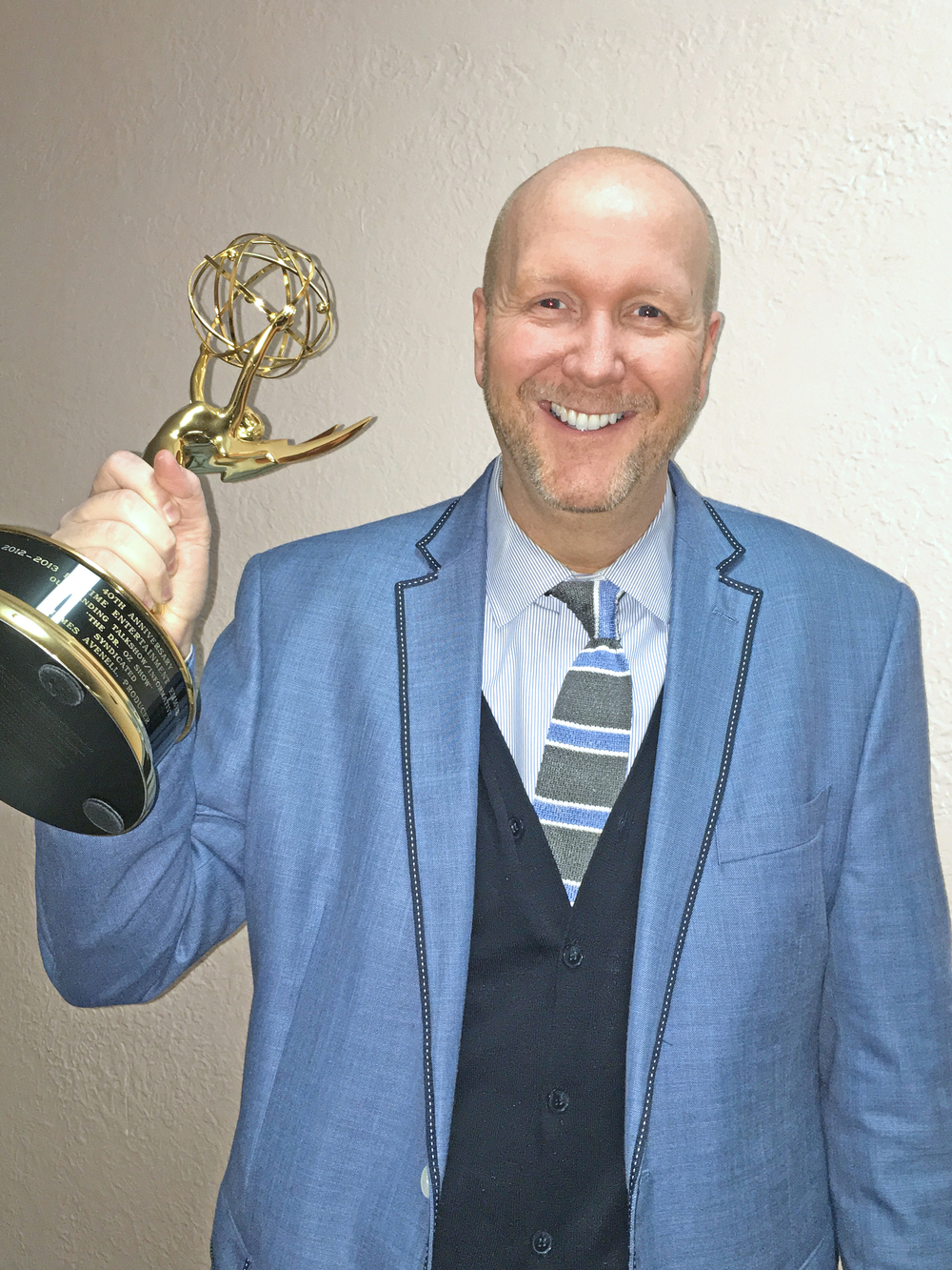 James and his Emmy!