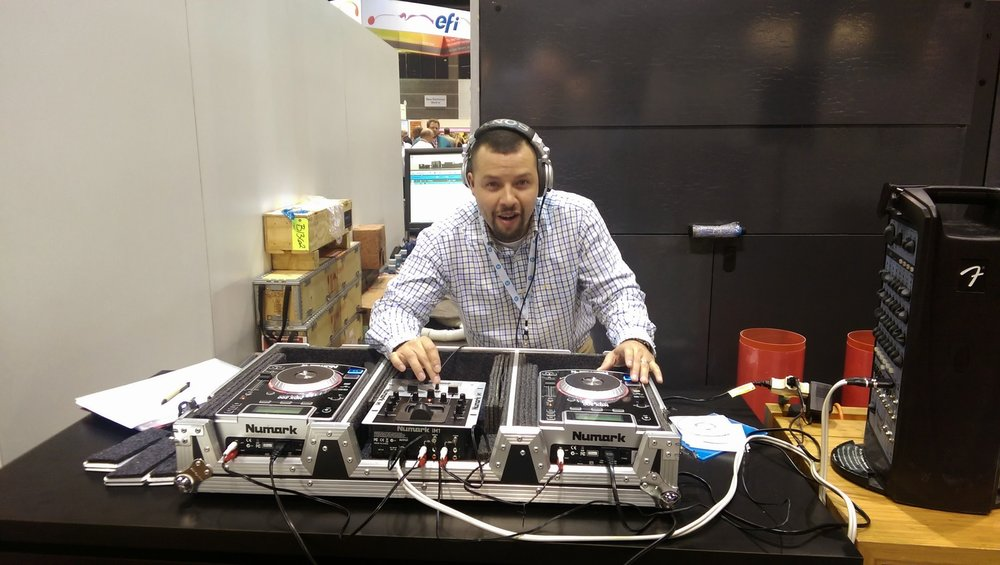 DJ Eric spinning tunes