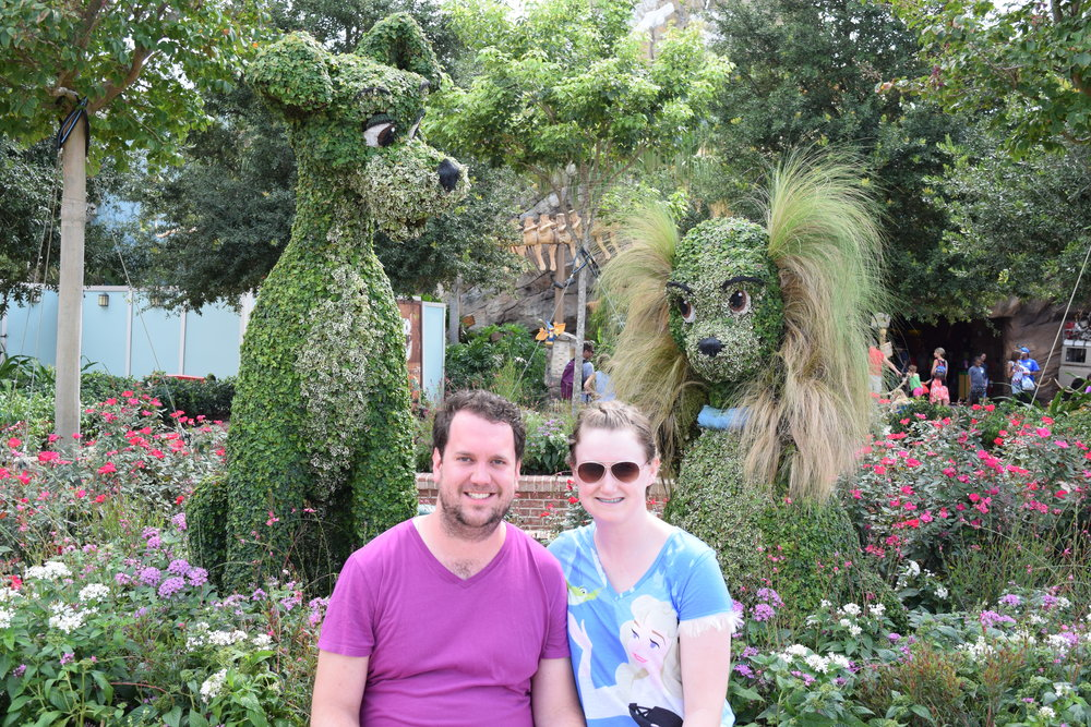 Darren and Hallie at Disney World!