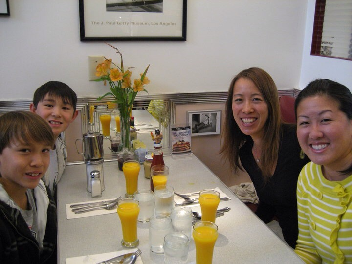 Breakfast with a friend and her sons