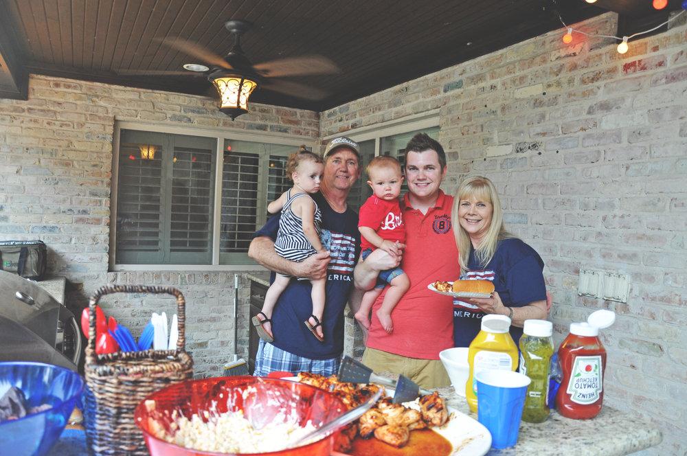 Family BBQ fun