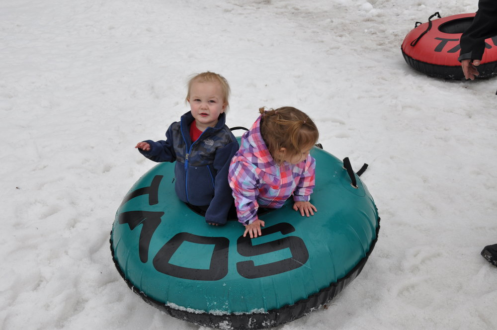 We also love to travel! Tubing in Taos Valley