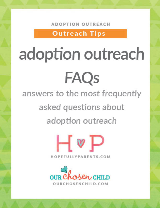 Adoption outreach questions