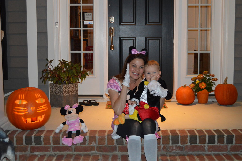 Fun on Halloween with Mom