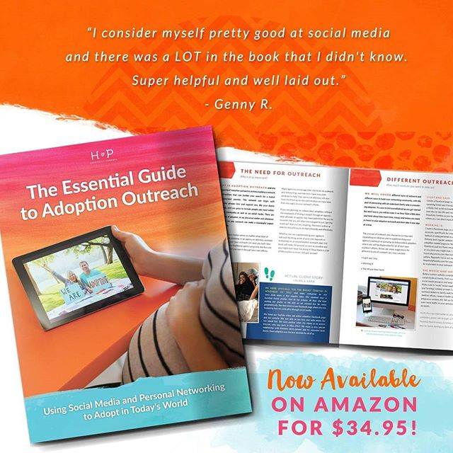 The reviews are in! The Essential Guide to Adoption Outreach is a hit! Get your copy on Amazon or on our website. Link in bio!