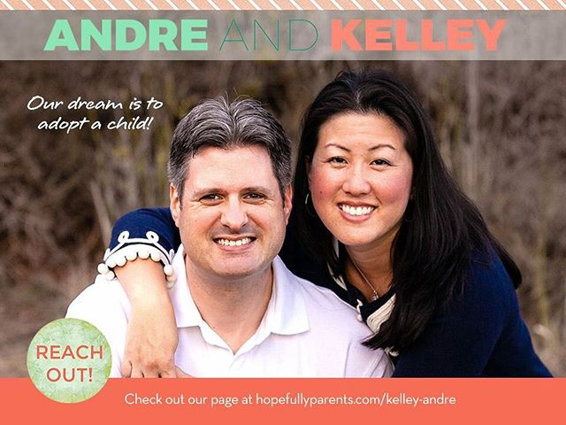 Kelly and Andre can't wait to adopt!  Get to know them here:  https://www.hopefullyparents.com/kelley-andre • • • #hopefullyparents #adopted #adoptionrocks #adoptionislove #adoptionoutreach #theessentialguidetoadoptionoutreach