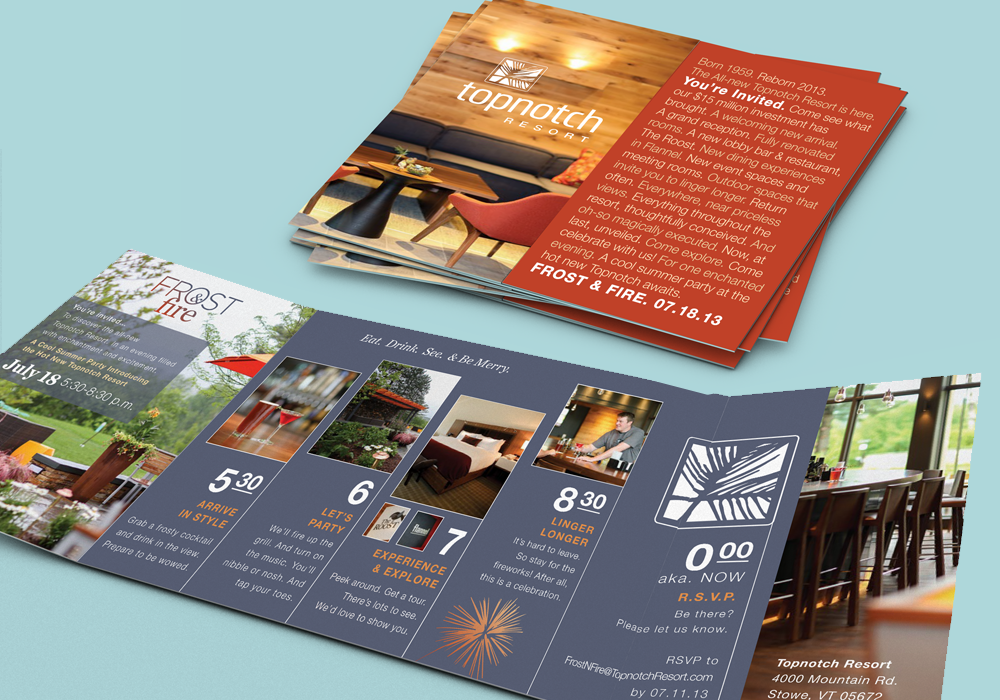 Top Notch Resort Marketing Collateral  Design