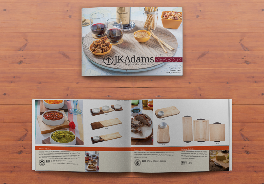 J.K. Adams Product Catalog Design
