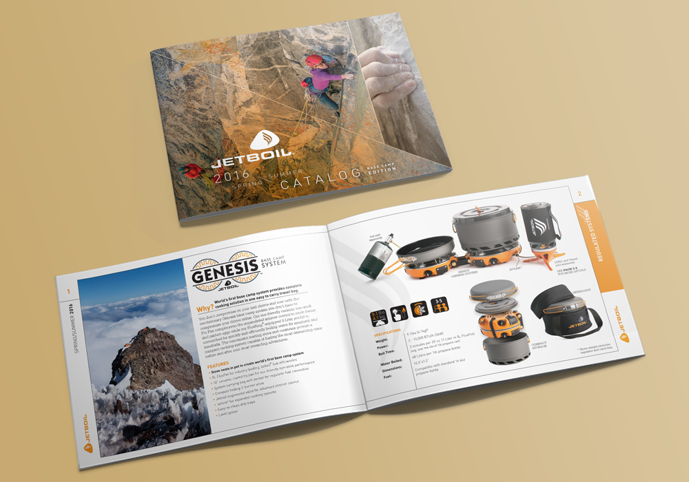 Jetboil Product Catalog Design