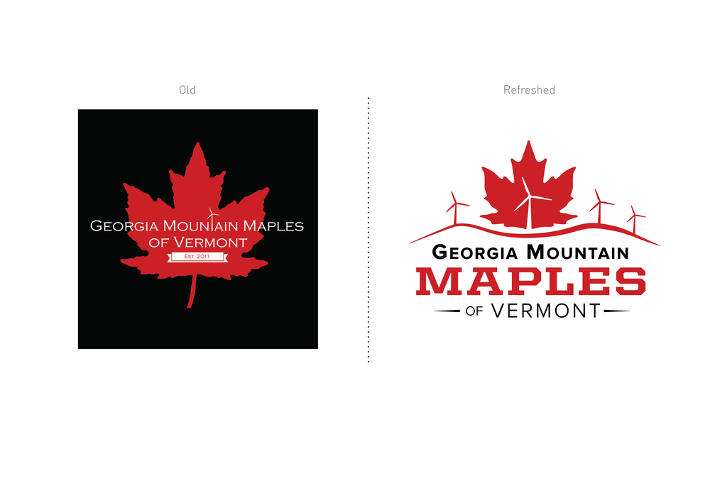 Georgia Mountain Maple Logo Design