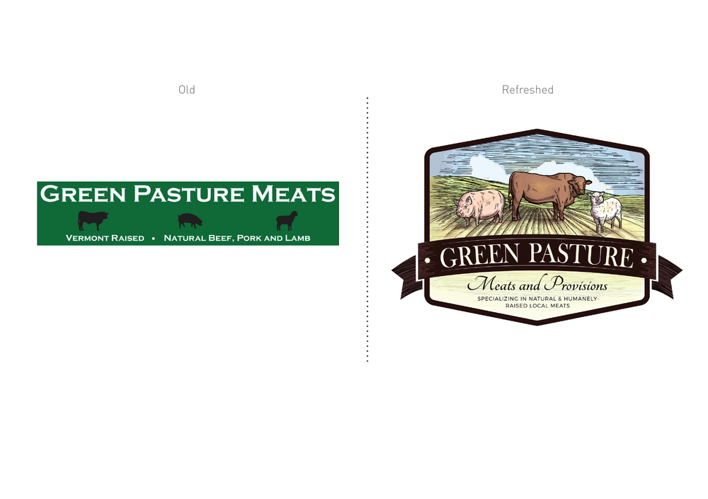 Green Pasture Meats Logo Design