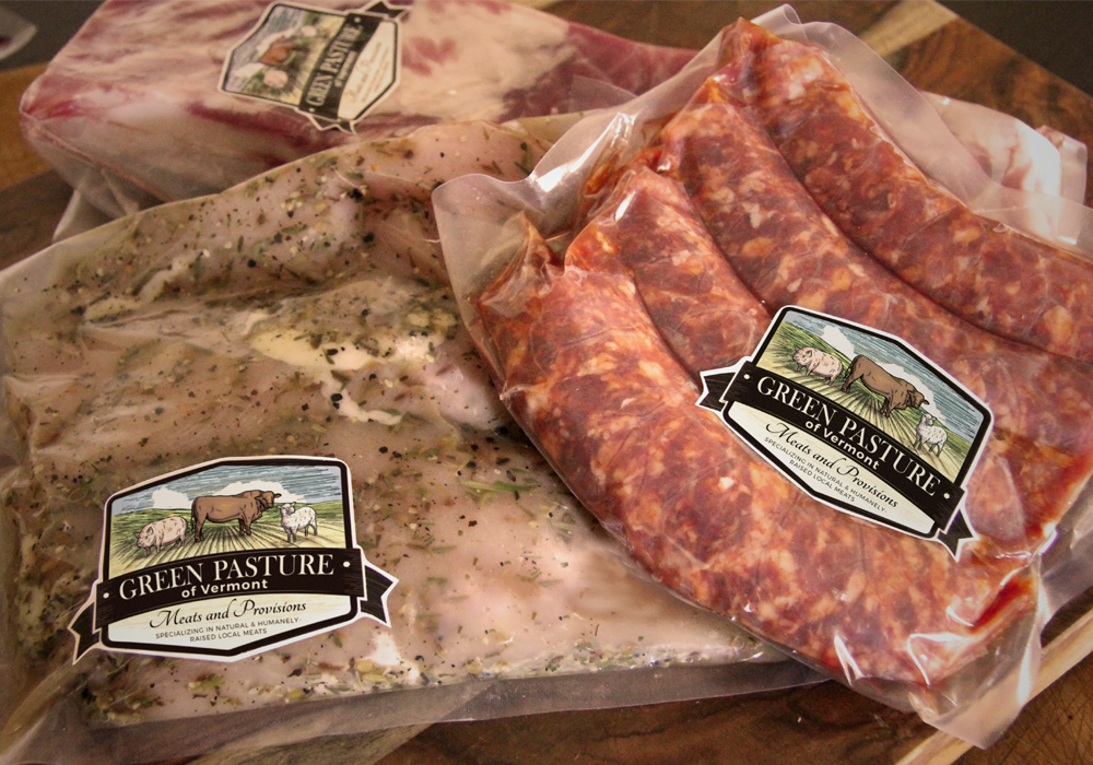 Green Pasture Meats Label Design