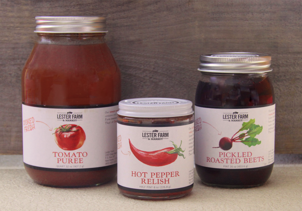 Lester Farms Packaging and Label Design