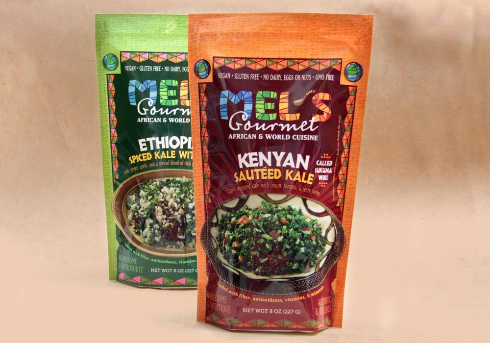 Mel's Gourmet Food Packaging Design