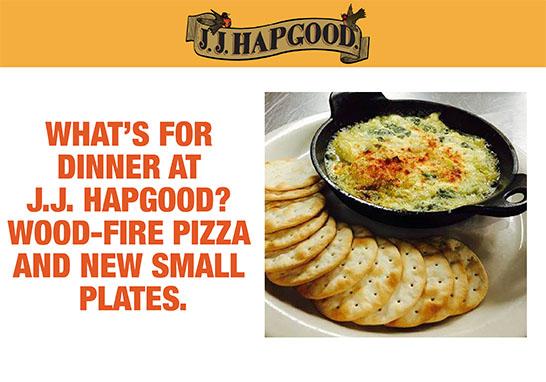 J.J. Hapgood Dinner Food Blogging
