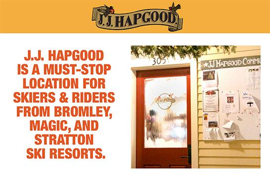 J.J. Hapgood Ski Food Blogging