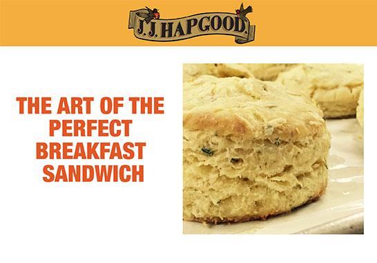 J.J. Hapgood Breakfast Sandwhich Food Blogging