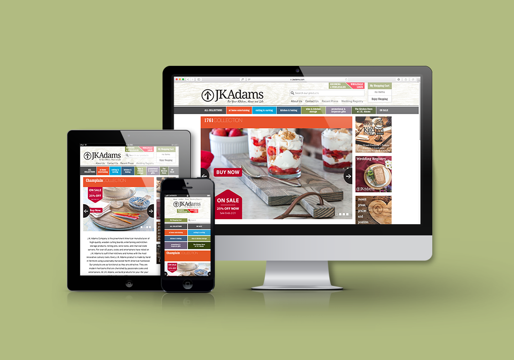 J.K. Adams E-Commerce Website Design