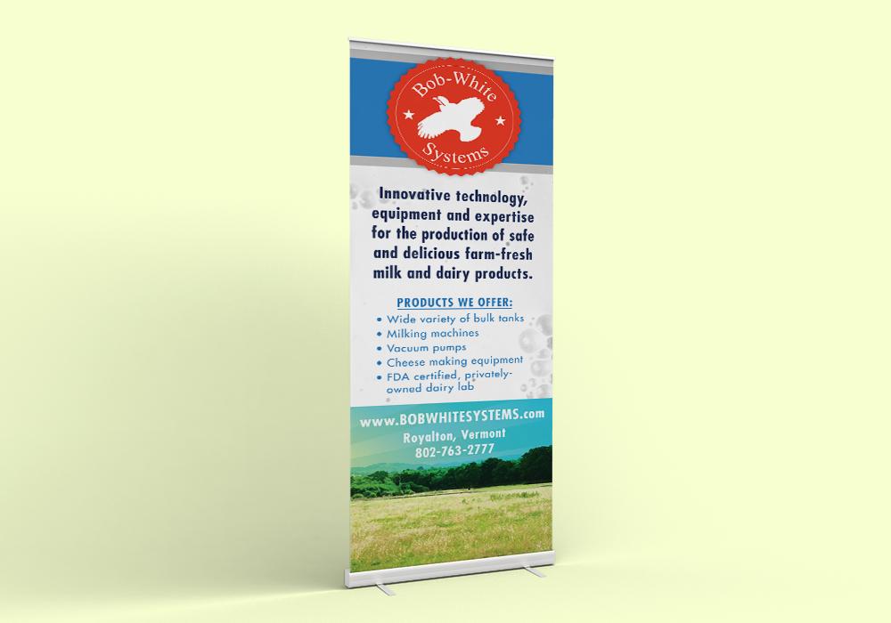 Bob White Systems Trade Show Banner Design