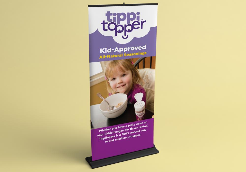 TippiTopper Trade Show Banner Design