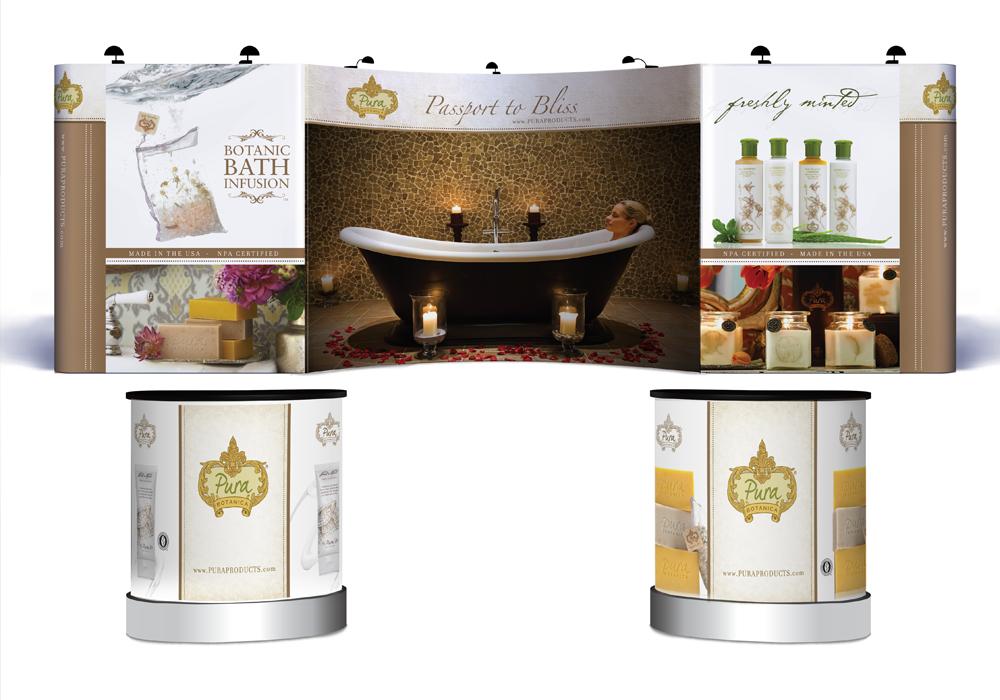 Pura Botanica Trade Show Display Design
